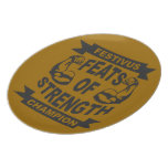 Festivus Feats of Strength Party Plates