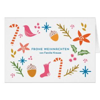 Festliche Doodles frohe Weihnachten Karten Card