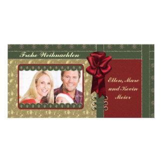 Festliches Weihnachts Design Personalized Photo Card