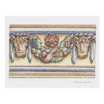 Festoon from ancient Roman Temple of Vesta, Postcard