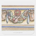Festoon from ancient Roman Temple of Vesta, Square Stickers
