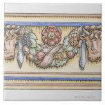 Festoon from ancient Roman Temple of Vesta, Tile