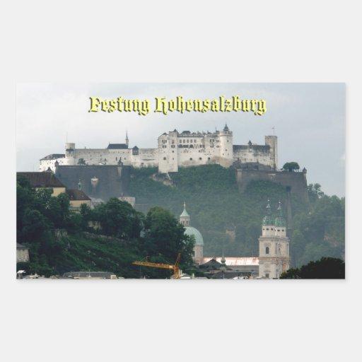 Festung Hohensalzburg, Salzburg Austria Pegatina Rectangular