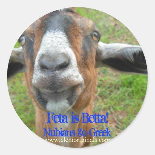 Feta is Betta Mariah the Goat Sticker