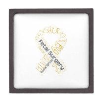 Fetal Surgery Spina Bifida Text Ribbon Jewelry Box