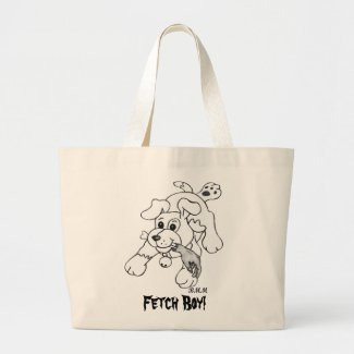 Fetch Boy Tote Bags