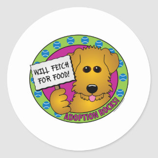 Fetch for Food Classic Round Sticker