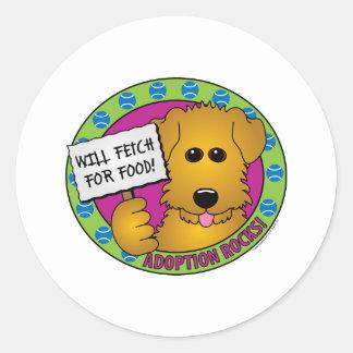 Fetch for Food Sticker