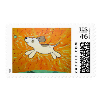 Fetch is Bliss Dog Painting Stamps