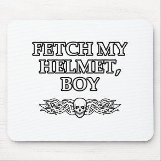 Fetch My Helmet, Boy Mouse Pad