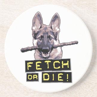 Fetch or Die! Beverage Coaster