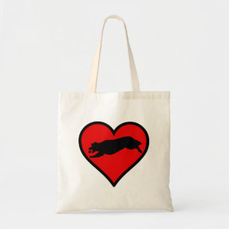 Fetching Golden Retriever Heart Love Dogs Tote Bag
