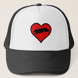 Fetching Golden Retriever Heart Love Dogs Trucker Hat