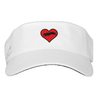 Fetching Golden Retriever Heart Love Dogs Visor