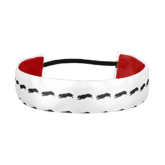 Fetching Golden Retriever Silhouette Love Dogs Athletic Headband