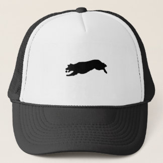 Fetching Golden Retriever Silhouette Love Dogs Trucker Hat