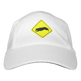 Fetching Golden Retriever Warning Sign Love Dogs Headsweats Hat