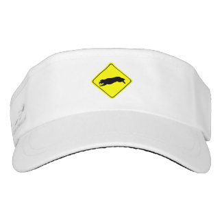 Fetching Golden Retriever Warning Sign Love Dogs Visor