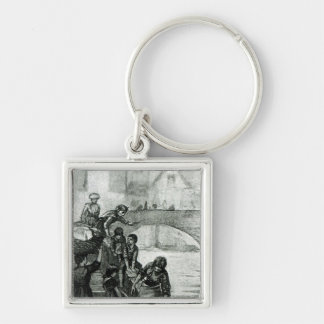Fetching Water from the River Keychain
