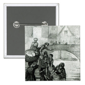 Fetching Water from the River Pinback Button