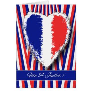 Fête 14 Juillet, invitación del fiesta del día de Tarjeta De Felicitación