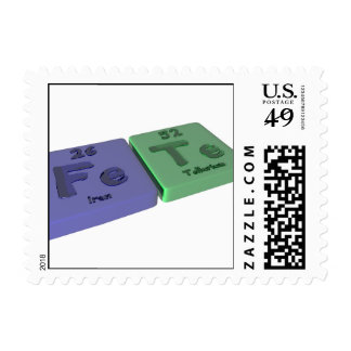 Fete  as Fe Iron and Te Tellurium Stamps