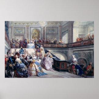 Fete at the Chateau de Versailles Poster