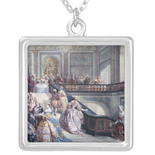 Fete at the Chateau de Versailles Silver Plated Necklace