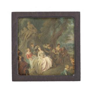 Fête Champêtre, C. 1730 (aceite en lona) Caja De Regalo De Calidad