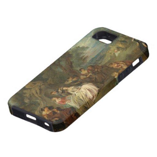 Fête Champêtre, C. 1730 (aceite en lona) iPhone 5 Fundas