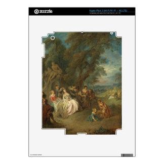 Fête Champêtre, C. 1730 (aceite en lona) iPad 3 Pegatina Skin
