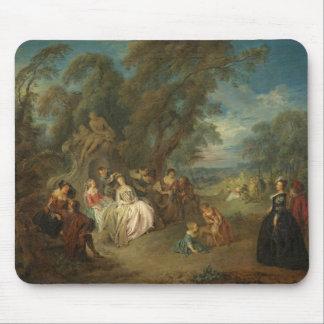 Fête Champêtre, c. 1730 (oil on canvas) Mouse Pad