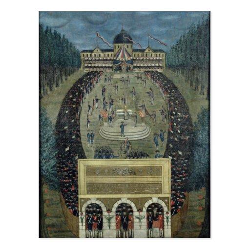 Fete de la Federation, 14th July 1790 Postcard