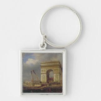 Fete de la Fraternite at the Arc de Triomphe Keychain