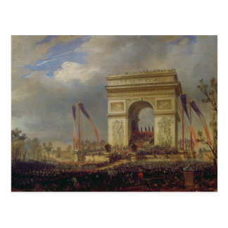 Fete de la Fraternite at the Arc de Triomphe Postcard