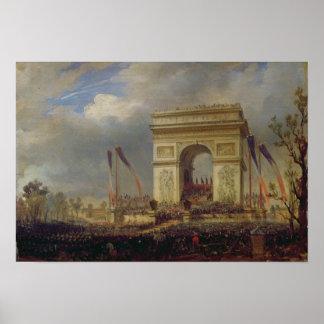 Fete de la Fraternite at the Arc de Triomphe Poster