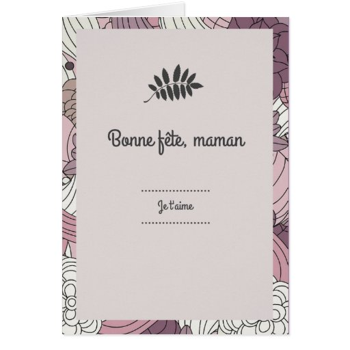 f te des m res carte fleurs card zazzle. Black Bedroom Furniture Sets. Home Design Ideas