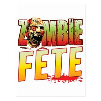 Fete Zombie Head Postcard