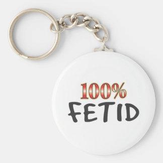 Fetid 100 Percent Basic Round Button Keychain