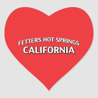 Fetters Hot Springs California Heart Sticker