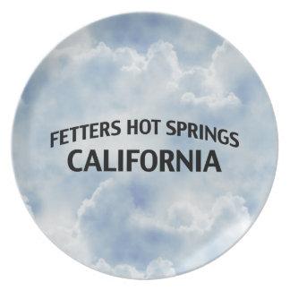 Fetters Hot Springs California Plate