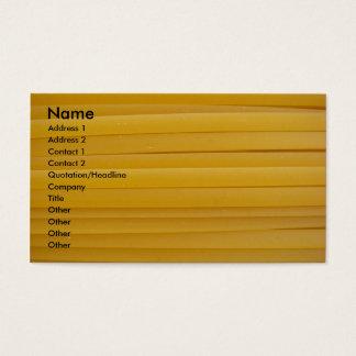 Fettuccine Pasta Business Card