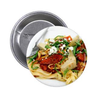 Fettuccini con el tomate y la albahaca asados pins