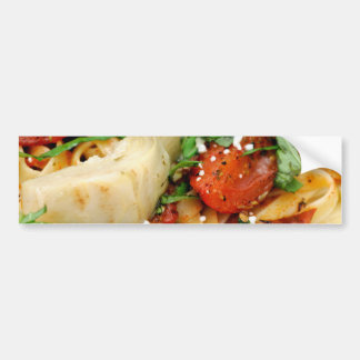 Fettuccini With Roasted Tomato And Basil Bumper Sticker
