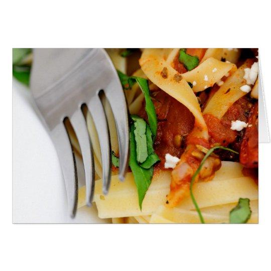 Fettuccini With Roasted Tomato And Basil Card