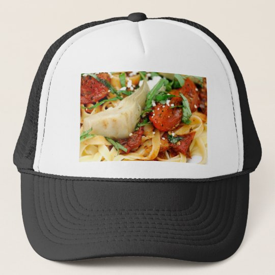 Fettuccini With Roasted Tomato And Basil Trucker Hat