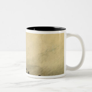 Feudal Ruins Two-Tone Coffee Mug