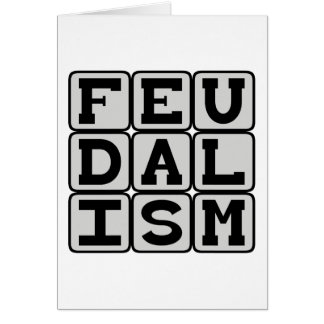 Feudalism, Social System in Medieval Times Cards