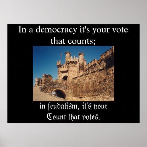 Feudalismo contra democracia impresiones