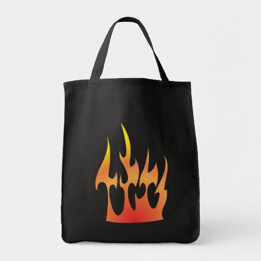 Feuer Flammen fire flames Einkaufstaschen